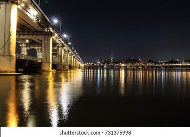 Night view at Hangang river
