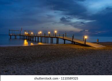 Night View of jetty in Belek