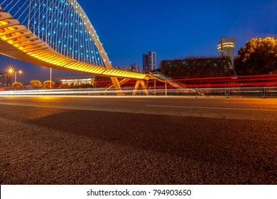Night view of jiangyin city, jiangsu province, China.