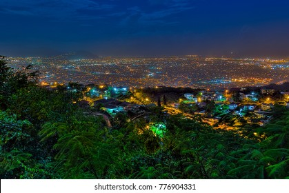 Night view of Kingston, Jamaica.