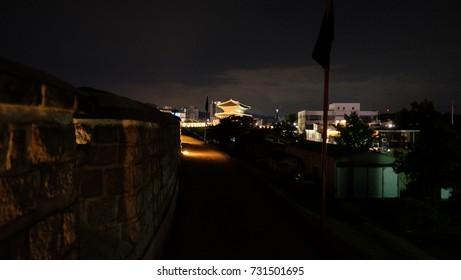 The night view of Korea