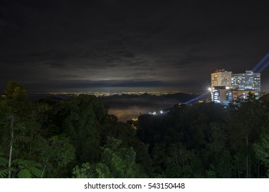 Night view of Kuala Lumpur city from atop of Genting Highland resort