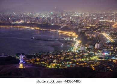 Night view of Lima city.