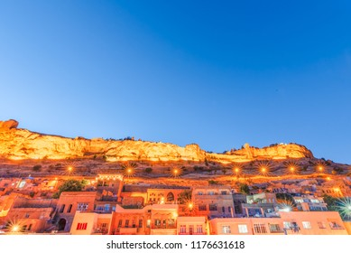 Night view of Mardin Castle in Mardin city,a popular city for locals and tourist and located in Turkey.