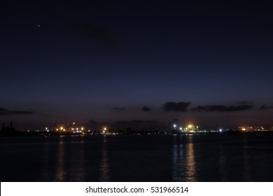 A Night View From Marine Drive ,Kochi