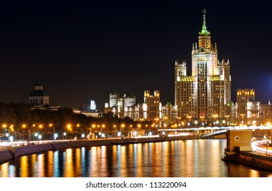 Night view of Moscow