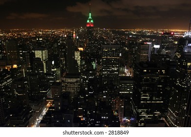 Night View of New York City from Empire State