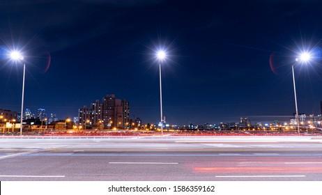 night view nightscape night scene streetlamp streetlight alley road light