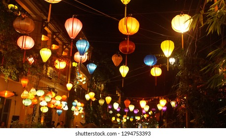 The night view at old city in Hoian