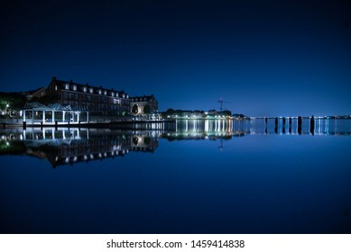 Night view of Old town Alexandria, Virginia, U.S.A