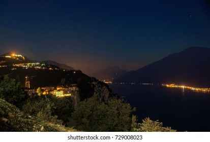 night View on the Garda Lake and the Monte Baldo