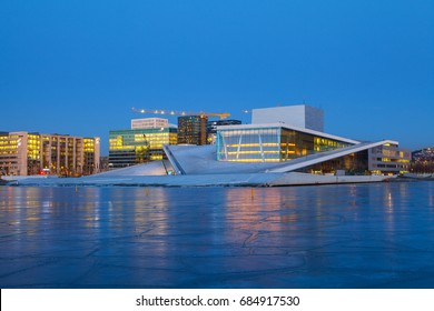 Night view of the Opera House and new business quarter