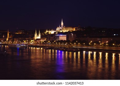 Night view of Parliament in Budapest, Hungary, Europe