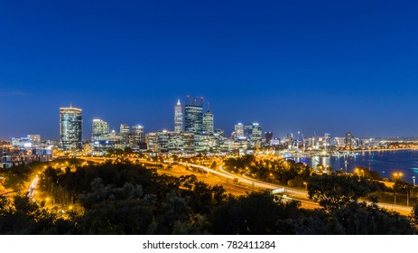 Night view of Perth Skyline from King's Park