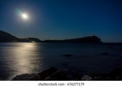 Night view from Porto Palermo