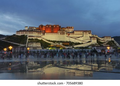 Night view of Potala Palace, Tibet