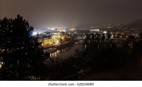 Night view of Prague. Czech Republic