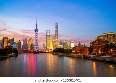 Night view of Pudong in shanghai, china