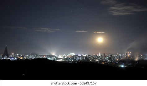 Night view of Pyongyang