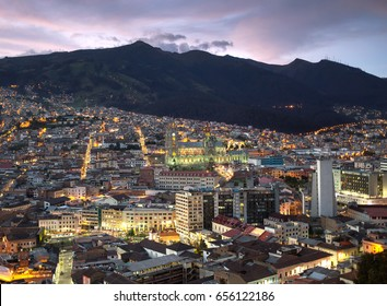 Night view of Quito, Ecuador