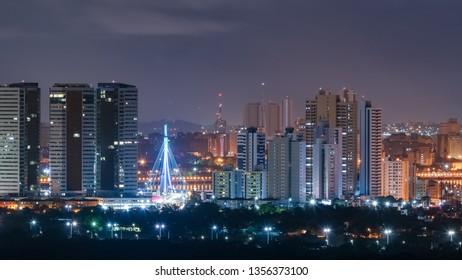 Night view from Recife city, Pernambuco state, Brazil