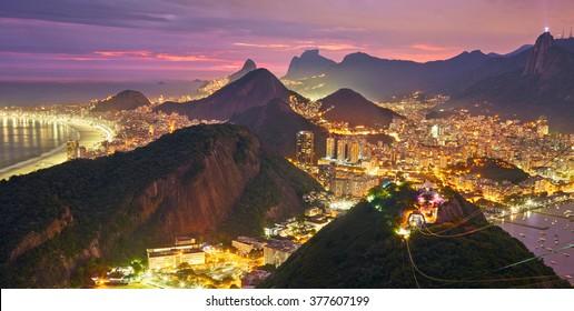 Night view of Rio de Janeiro, Brazil