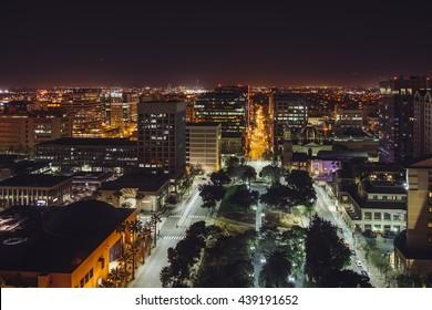 Night view of San Jose, California