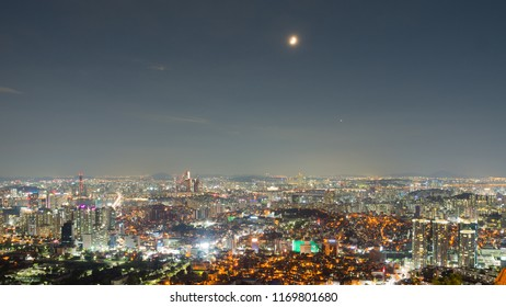 Night view of Seoul city from Namsan