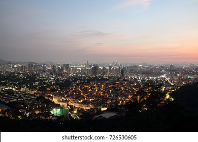 Night view of Seoul on Namsan Mountain