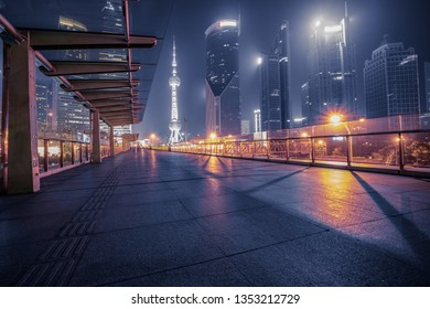 Night view of Shanghai pudong new area,china