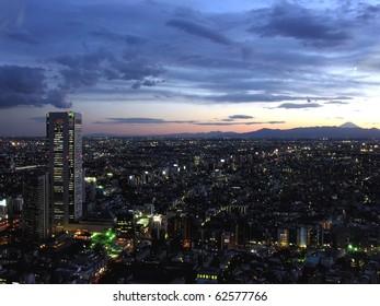 Night view of shinjuku