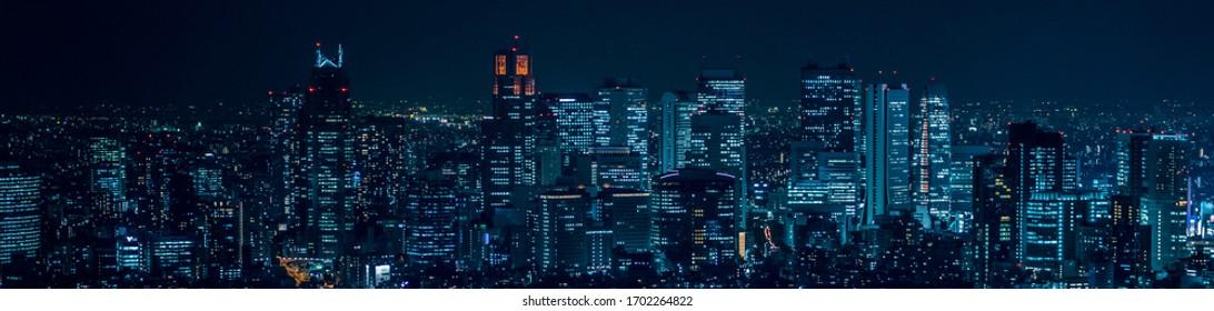 Night view of Shinjuku, Tokyo Japan