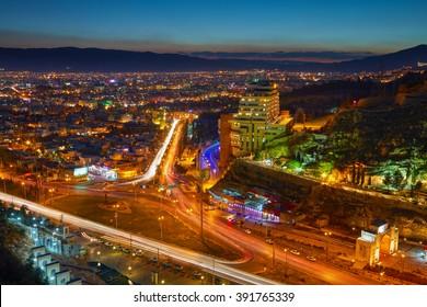 Night view of Shiraz, Iran