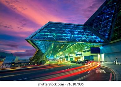 night view of taoyuan airport
