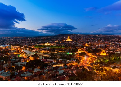 Night view of Tbilisi
