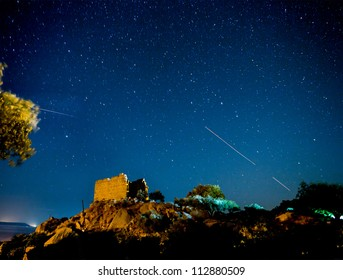 Night view of The Temple of Athena at Heracleia under Latmus