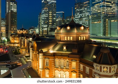Night view of Tokyo Station