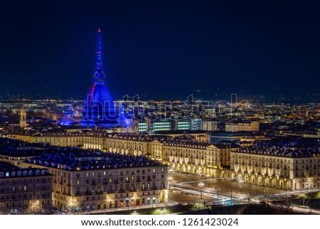 Night view of Torino
