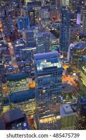 Night view of Toronto downtown