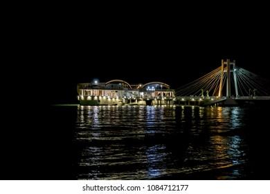 Night View of Ventus Harbor in Durres