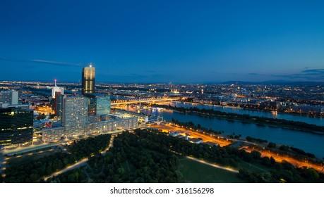 Night view to Vienna