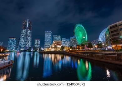 Night view of Yokohama Minato Mirai