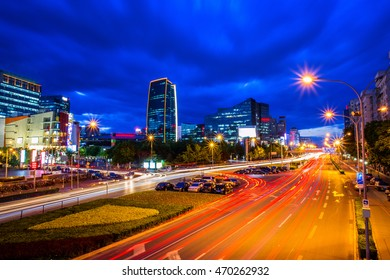 Night view of Zhongguancun Beijing