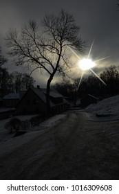 Night in the village