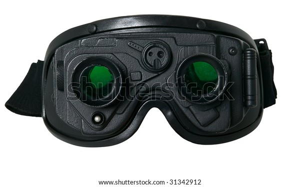 night vision goggles isolated on white