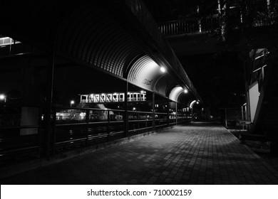 Night walkway