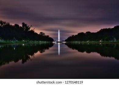 Night at the Washington monument...