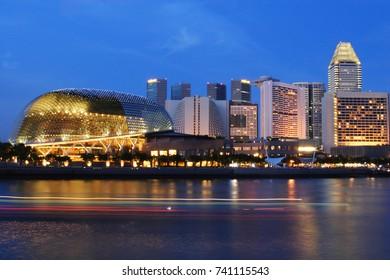 Night Waterfront at Marina bay, Singapore