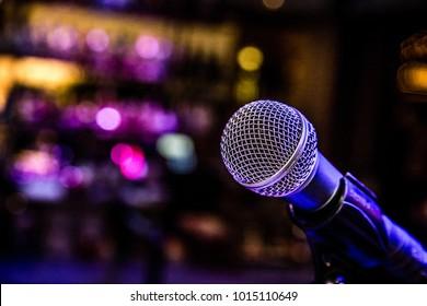 Nightclub Microphone Show