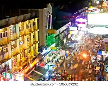 Nightlife in Bangkok in summer